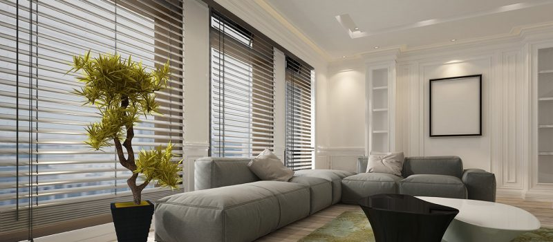 Venetian Blinds White Room Web